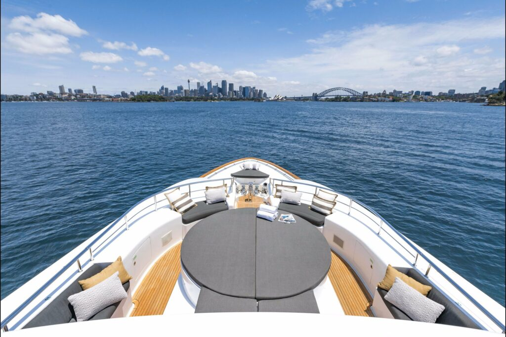 shot of Sydney from onboard a charter vessel