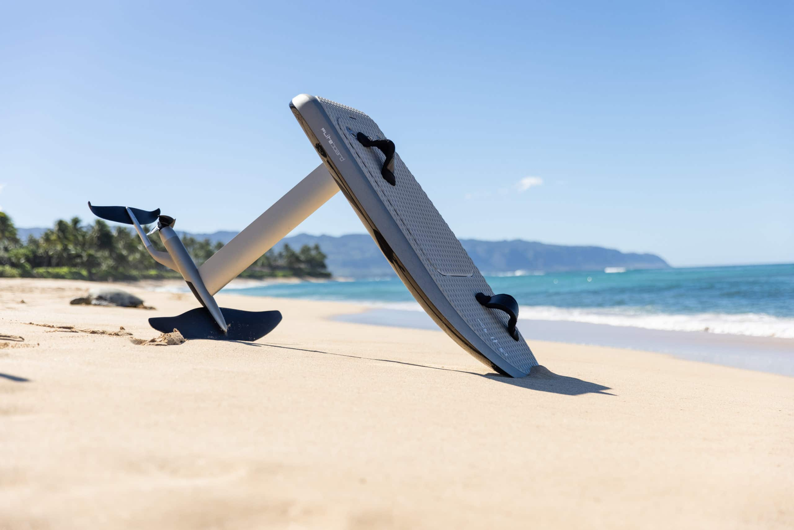 Fliteboard Series 2 pictured on a beach