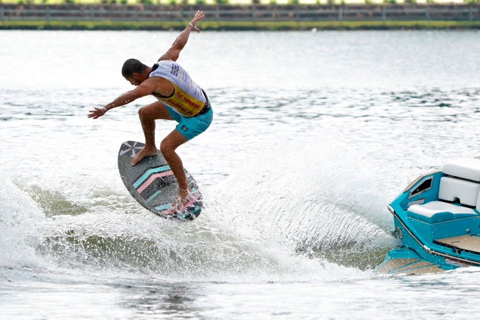 person wakeboarding