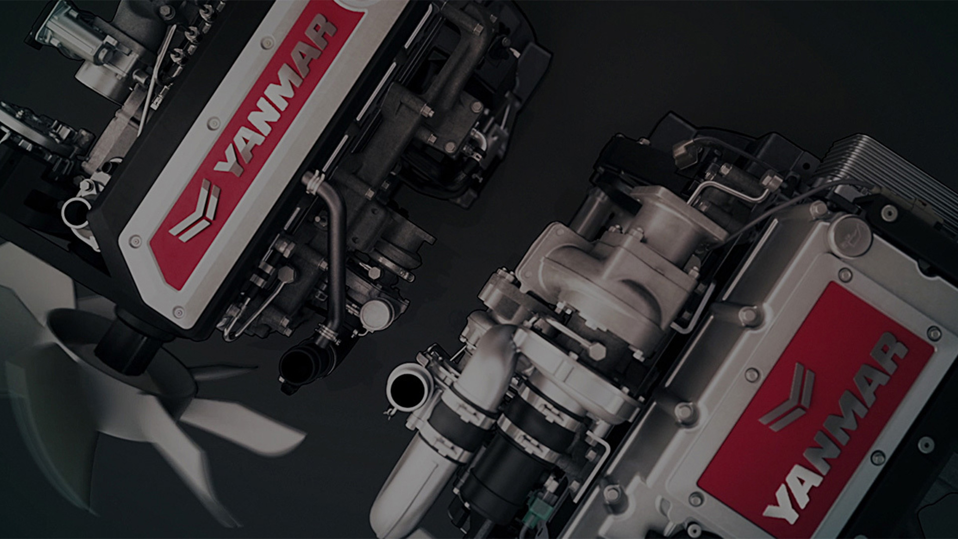 YANMAR engines from above