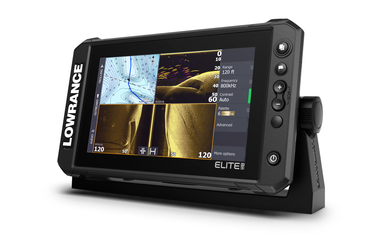 Navico ActiveTarget software running on a Lowrance screen