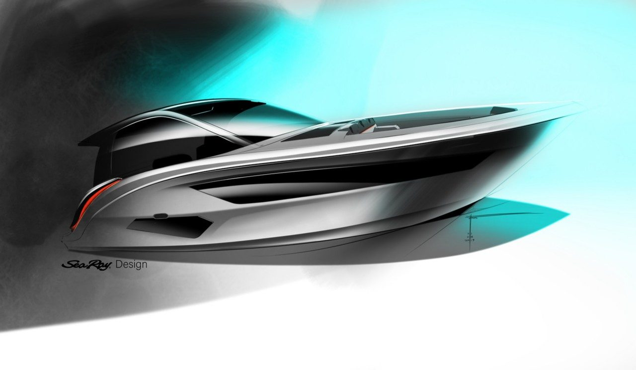 Drawing of Sundancer 370 from Sea Ray