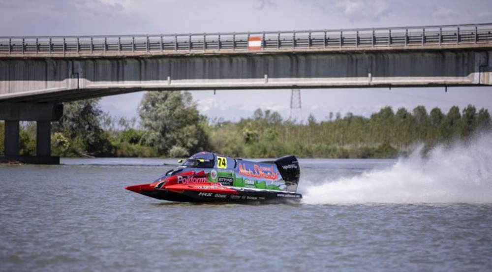 A speed boat