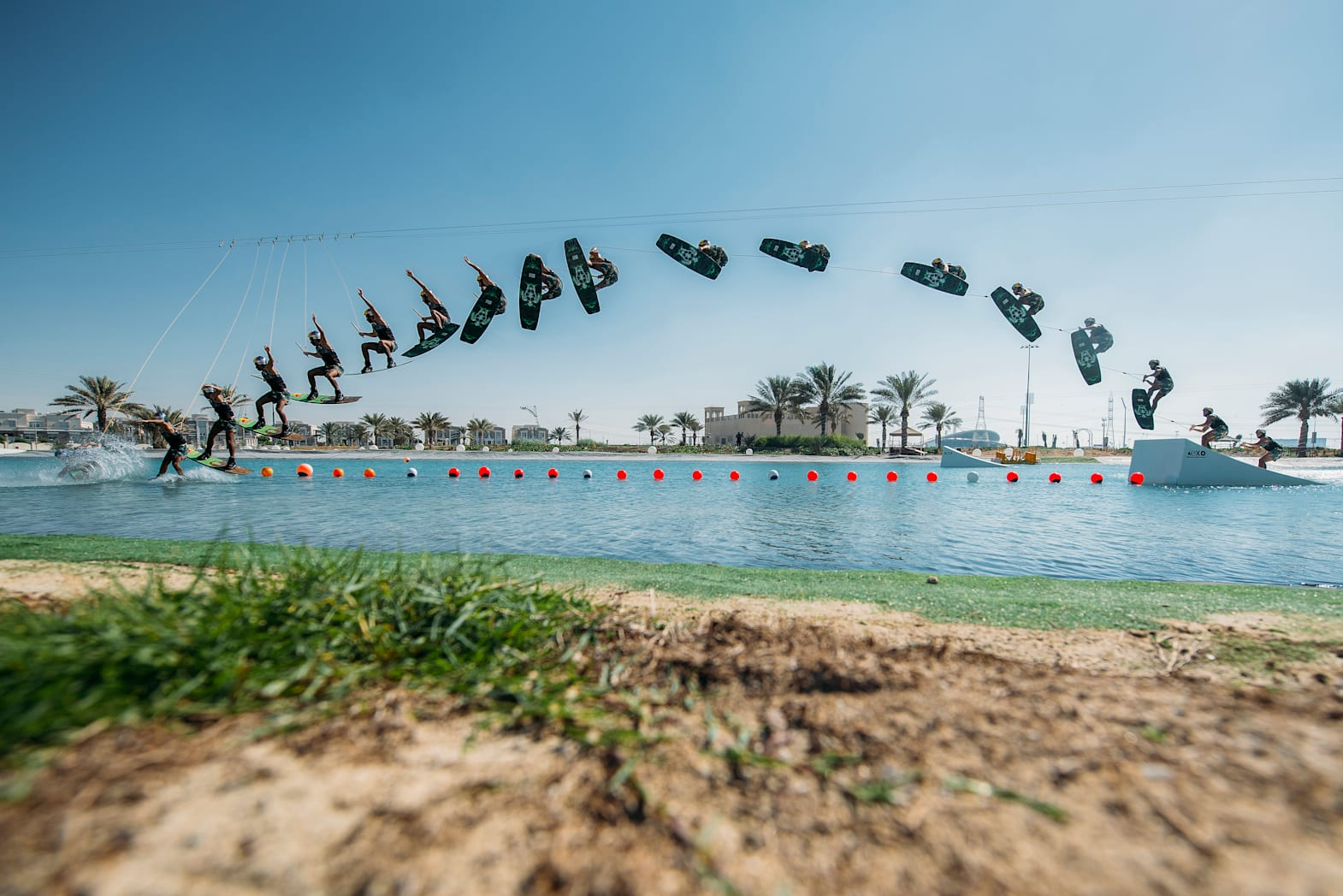 Shot of Omeir Saeed's record breaking jump