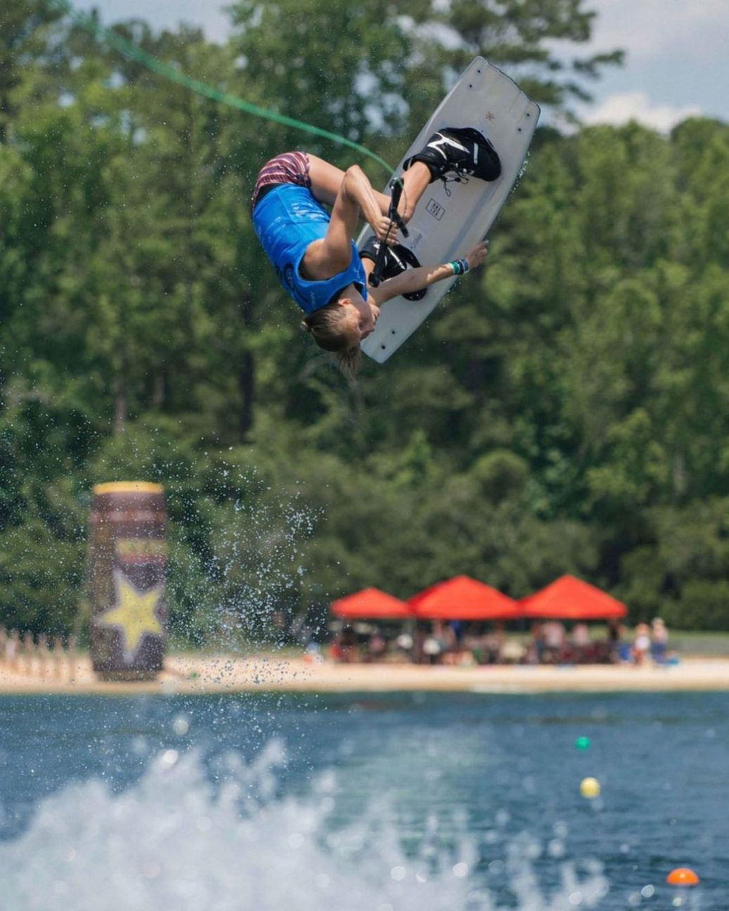 Mary Morgan Howell getting some air-time on her Wakeboard