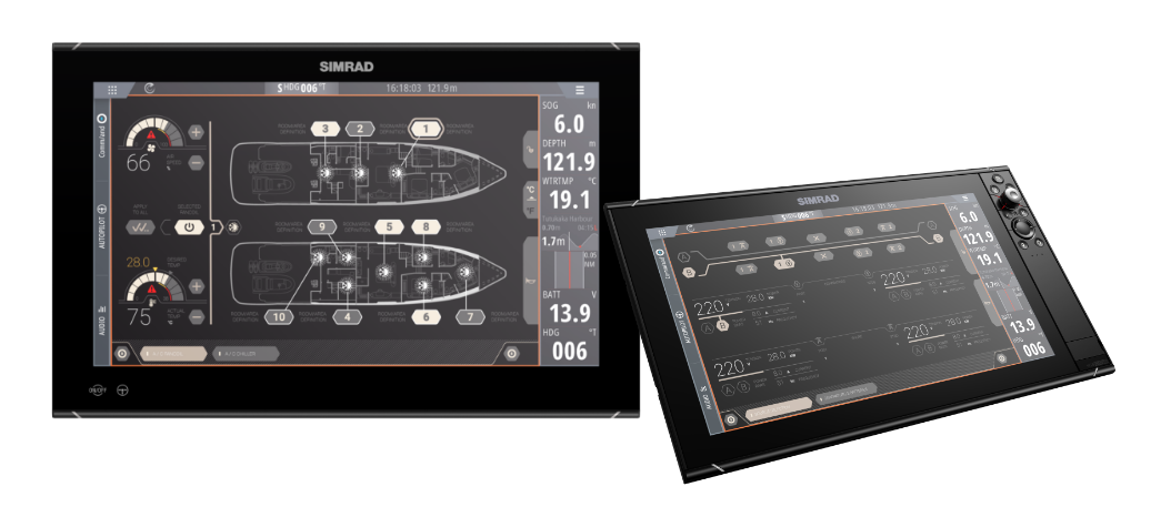 The Simrad® Command integration and monitoring system