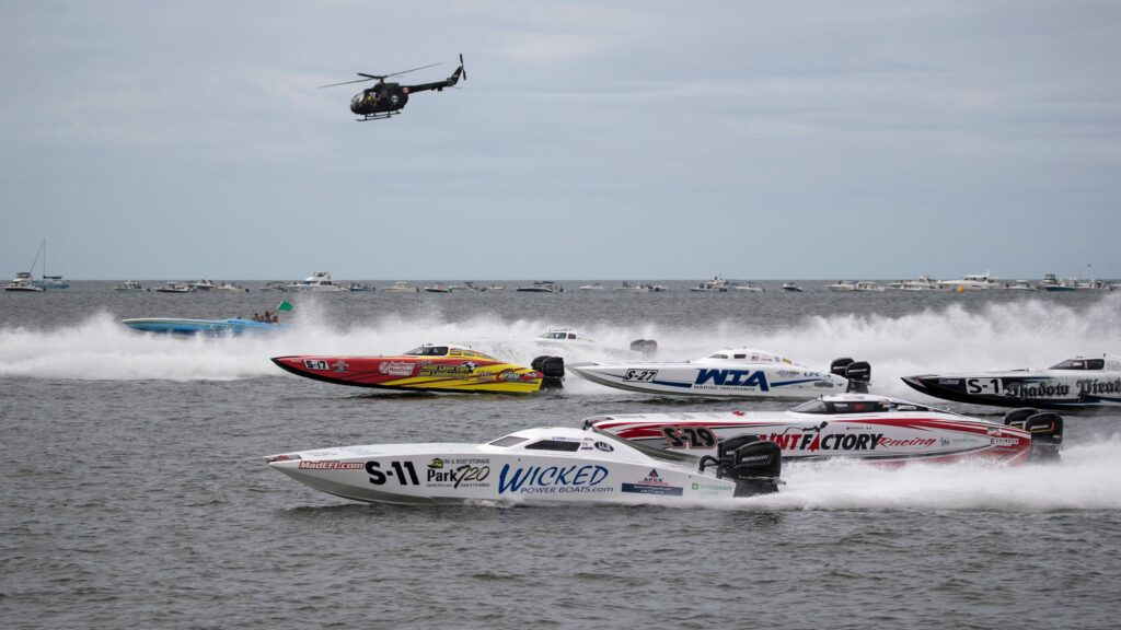Roar Offshore Powerboats racing at speed