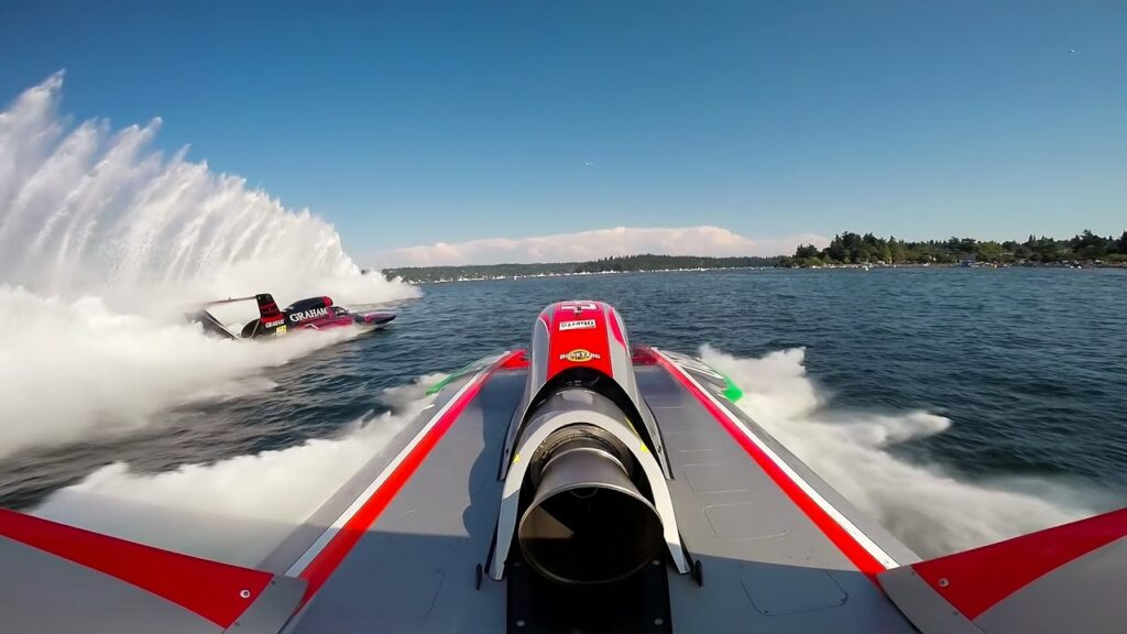 GoPro being used on a professional powerboat