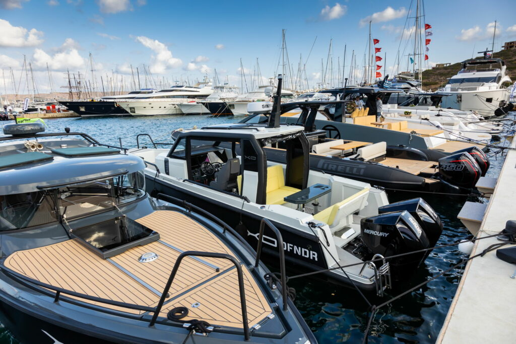 Powerboats at the Olympic Yacht Show